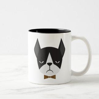 Betekent de Franse Buldog van Boston Terrier de Tweekleurige Koffiemok