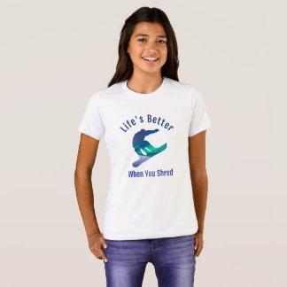Betere het leven wanneer u, T-shirt Snowboarding
