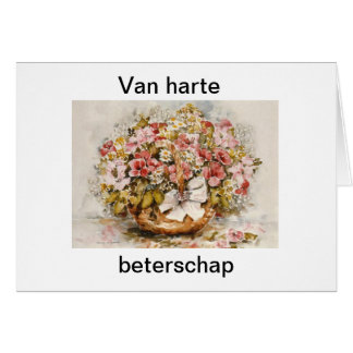 Beterschapskaart bloemen wenskaart