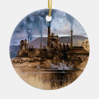 Bethlehem de Werken van het Staal door Joseph Rond Keramisch Ornament