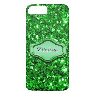 Betoverende Gesimuleerde Groene Sparkly schittert iPhone 8/7 Plus Hoesje