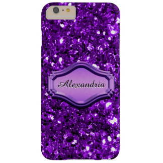 Betoverende Gesimuleerde Paarse Sparkly schittert Barely There iPhone 6 Plus Hoesje