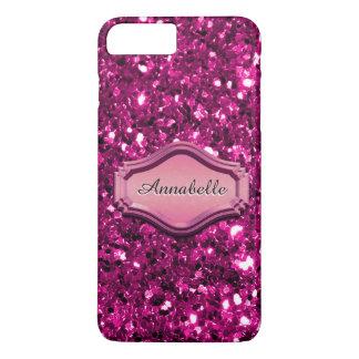 Betoverende Gesimuleerde Roze Sparkly schittert iPhone 8/7 Plus Hoesje