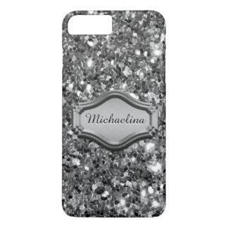 Betoverende Gesimuleerde Zilveren Sparkly iPhone 8/7 Plus Hoesje