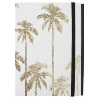 Betoverende Gouden Tropische Palmen op Wit