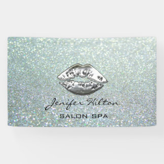Betoverende moderne elegante glittery zilveren