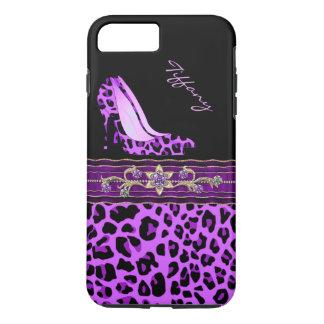 Betoverende Paarse iPhone 7 van de Druk van Jaguar iPhone 8/7 Plus Hoesje