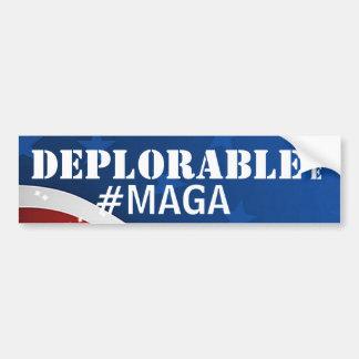 Betreurenswaardig maak me #MAGA/Amerika Groot Bumpersticker