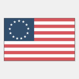 Betsy Ross Rechthoekige Sticker