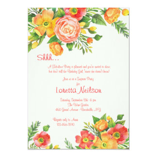 Bevallige BloemenUitnodiging 12,7x17,8 Uitnodiging Kaart
