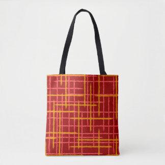 bevederd strepen abstract ontwerp draagtas