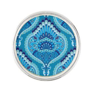 Bevederde Paisley - Blueish Reverspeld