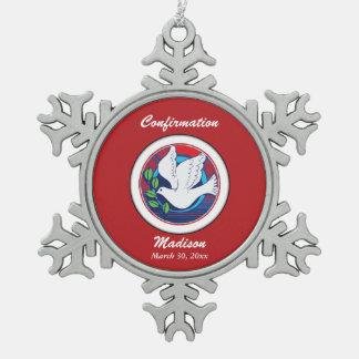 Bevestiging, Kleurrijke Duif, het Ketting van de Tin Sneeuwvlok Ornament