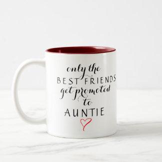 Bevorderd aan Tante Tweekleurige Koffiemok
