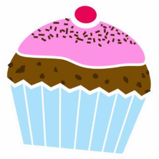 Bevroren Beeldhouwwerk Cupcake Foto Uitsnede