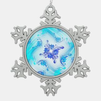 Bevroren Bloemen Fractal Tin Sneeuwvlok Ornament