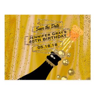 Bewaart de Gouden Zwarte van Glam de Verjaardag Briefkaart