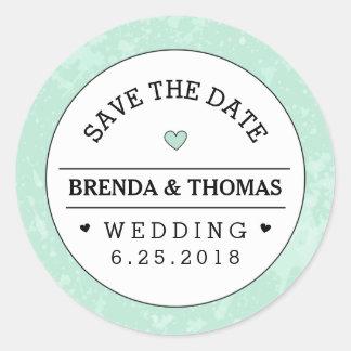 Bewaart het Groene Zwarte & Witte Huwelijk van de Ronde Stickers