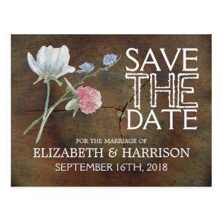 Bewaart het Huwelijk van het Eiken Hout van Briefkaart