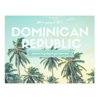 Bewaart het Tropische Strand van de Dominicaanse Briefkaart
