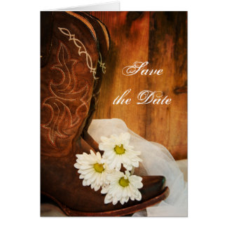 Bewaart het Westerne Huwelijk van de Laarzen van Briefkaarten 0