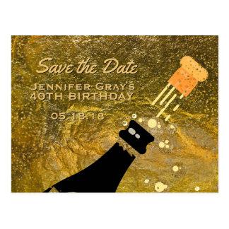 Bewaart het Zwarte Goud van Glam de Verjaardag van Briefkaart