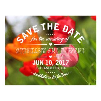Bewaren de Heldere Tulpen van de lente het Briefkaart