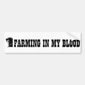 Bewerkend in mijn bloed, gift voor een landbouwer  bumpersticker