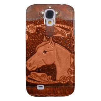 "Bewerkt Leer ""Paard"" Westerne IPhone 3 Hoesje"