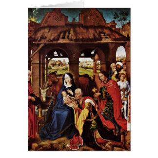 Bewondering van Magi door Rogier van der Weyden Kaart