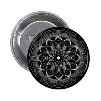 Bewustzijn - Heilige Meetkunde Mandala Ronde Button 5,7 Cm