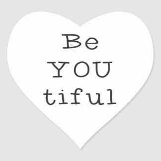 BeYOUtifuL Hart Sticker