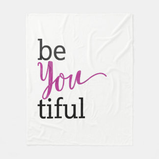 beYOUtiful Inspirerend Bericht Fleece Deken