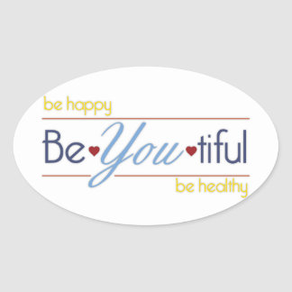 BeYoutiful Ovale Sticker