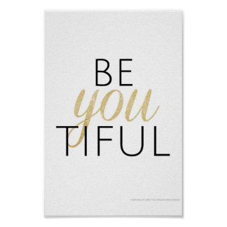 beYOUtiful Poster
