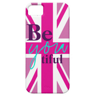 beYOUtiful Roze iPhone 5 van Union Jack Hoesje