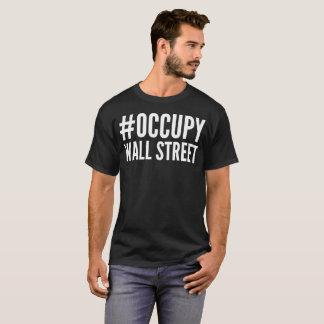 Bezet de T-shirt van de Typografie van Wall Street