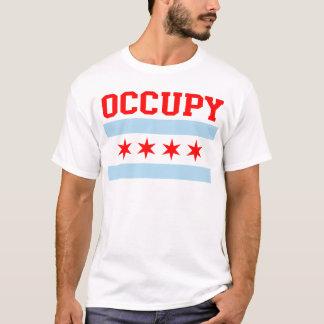 Bezet de t-shirt van de Vlag van Chicago
