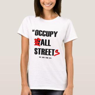 Bezet Wall Street Alle Straten wij 99% zijn T Shirt