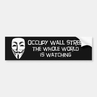bezet Wall Street Bumpersticker