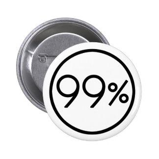 Bezet Wall Street wij de 99% Knoop zijn Ronde Button 5,7 Cm