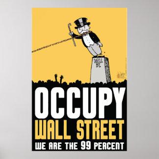 Bezet Wall Street wij het 99 percentenposter zijn Poster