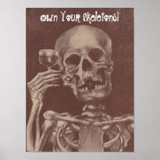 Bezit het Roosterende Skelet van de goedkeuring Poster