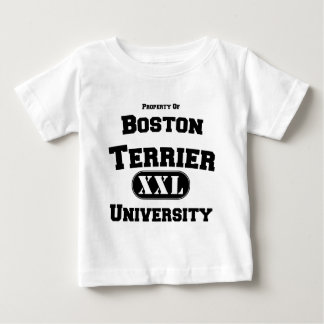 Bezit van de Universiteit van Boston Terrier Baby T Shirts