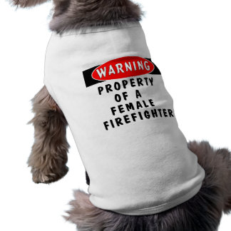 Bezit van een Vrouwelijke Brandbestrijder Mouwloos Hondenshirt
