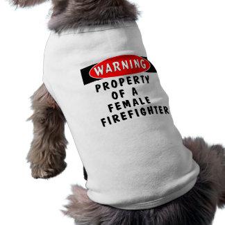 Bezit van een Vrouwelijke Brandbestrijder Shirt