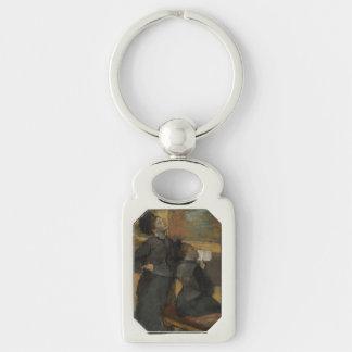 Bezoek aan een Museum door Edgar Degas Sleutelhanger