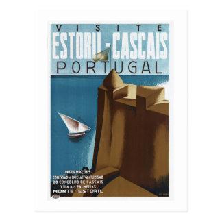 Bezoek Estoril Cascais Portugal Briefkaart