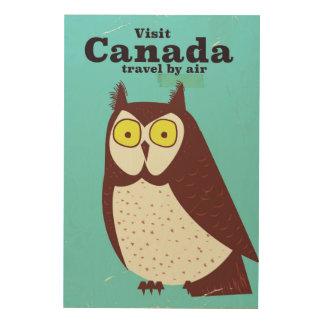 Bezoek het poster van de Uil van Canada