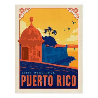 Bezoek Mooi Puerto Rico Briefkaart